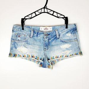 Hollister   Rainbow Boho Low Rise Jean Shorts